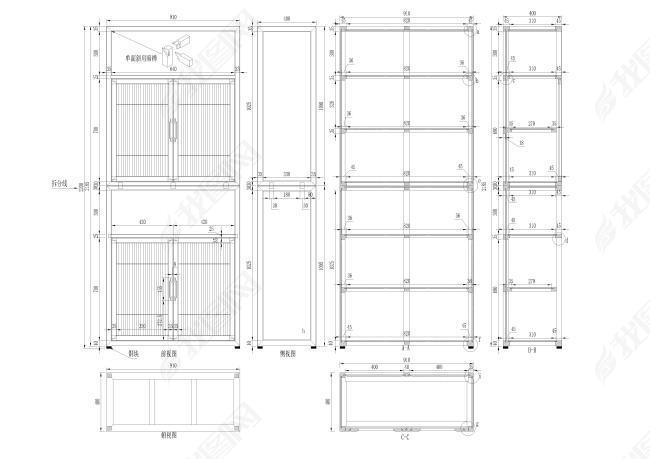 现代珠宝书柜CAD图图纸魔兽世界375-1所有图纸图片