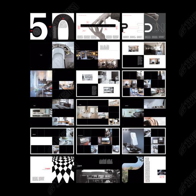 现代橱卫画册设计