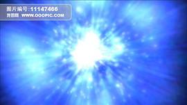 动态蓝光粒子特效远离效果高清视频背景素材