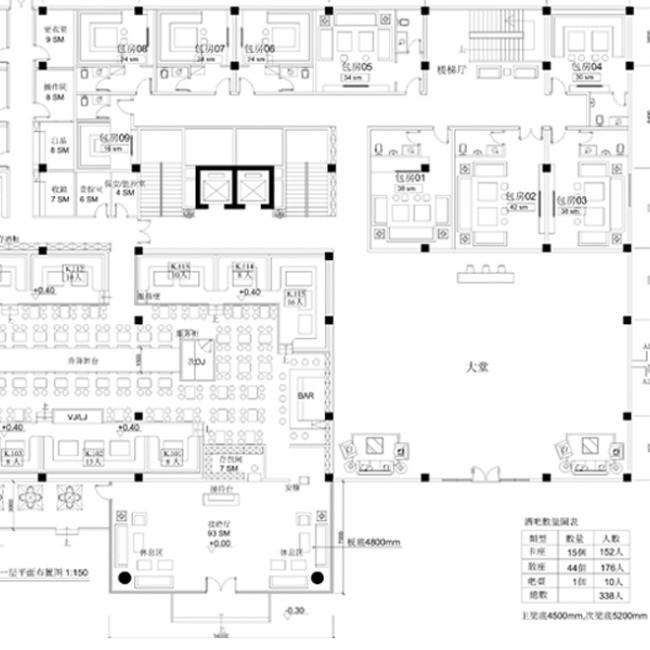 平面设计大参考_酒吧CAD平面图(图片编号:11307941)_CAD图纸_我图网