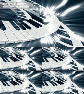 钢琴旋转视频特效素材