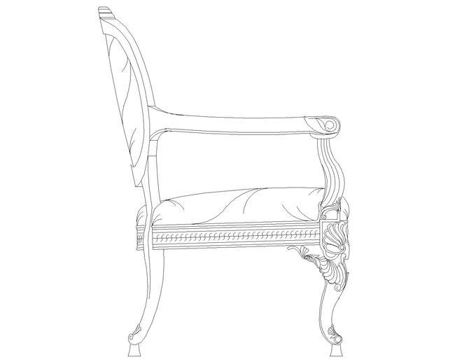 欧式椅子cad图