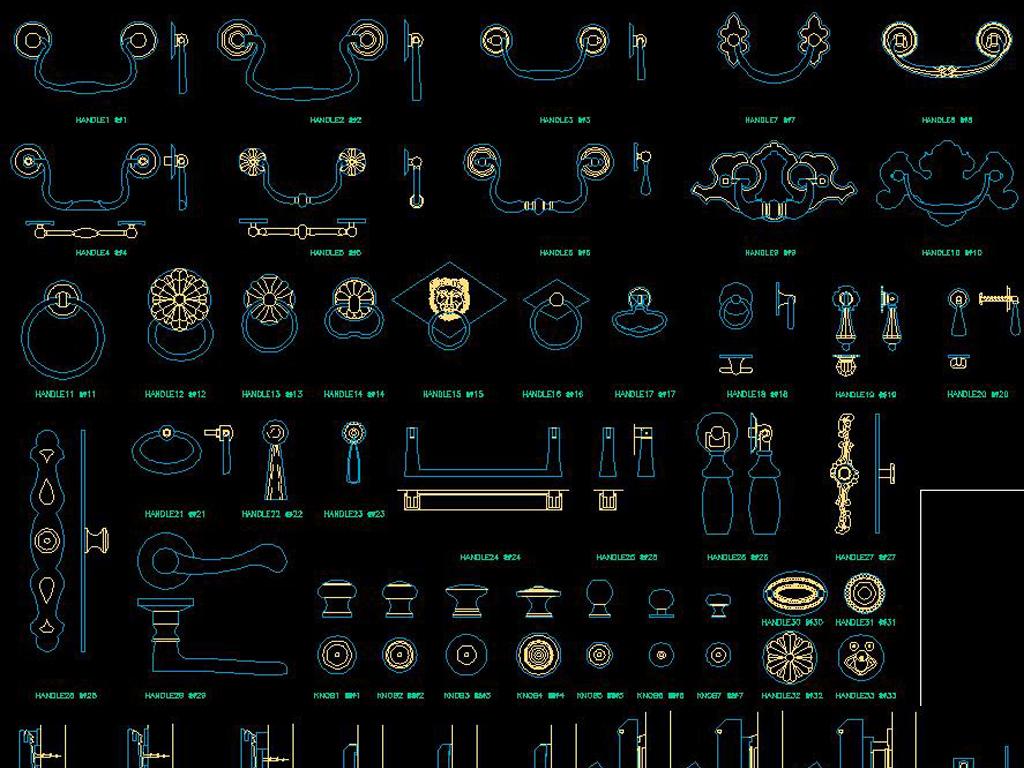 CAD螺栓信息构件器材建筑大全门饰机械cad五金制图滑轮招聘图片