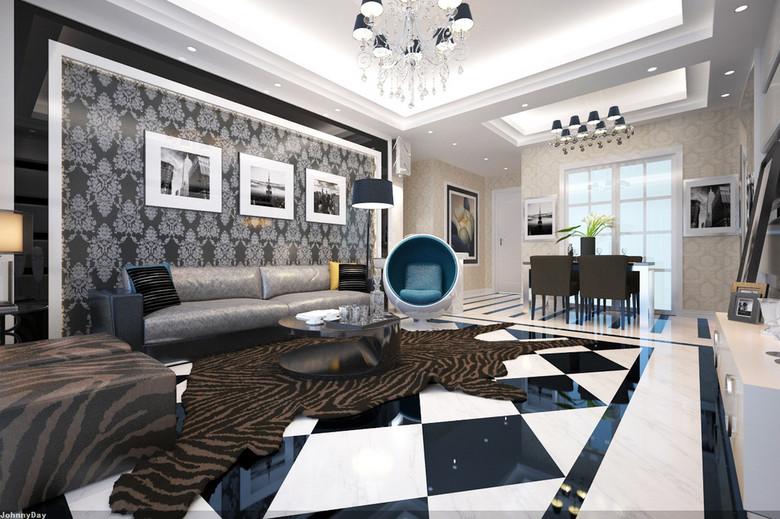 3d客厅渲染效果图模型带vr