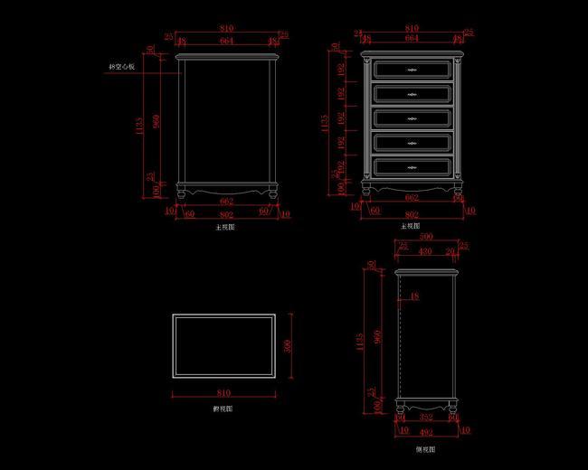 定制家具CAD图ug8导出二维cad图三维图片