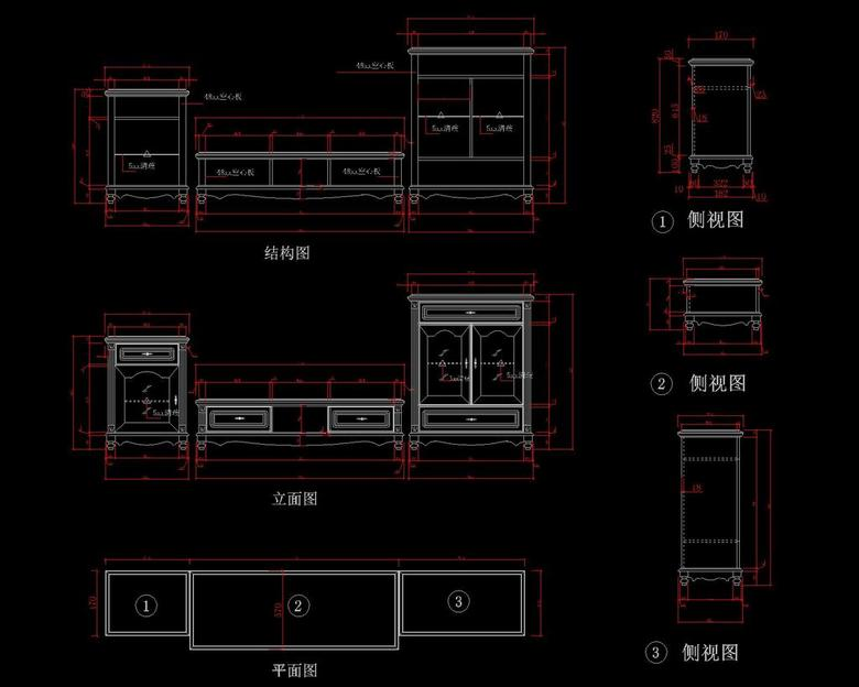 定制木材CAD图cad图片填充家具图片