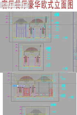 罗马柱立面设计cad