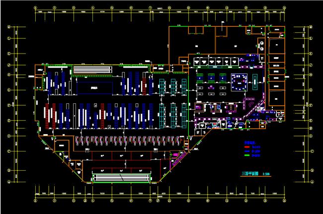 cad超市平面布置图平面设计图下载(图片1.73mb)-别墅图片
