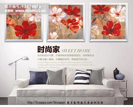 美克美家植物花卉太阳花小绉菊花油画装饰画