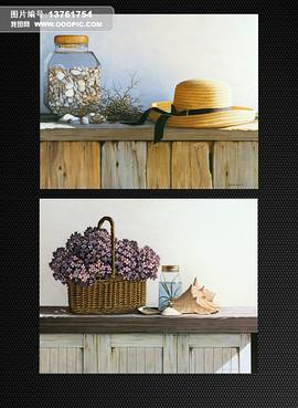 古典花卉花朵美克美家油画装饰画画芯