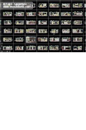 室内衣柜装饰柜CAD图纸钻的麻花图库维图3图片