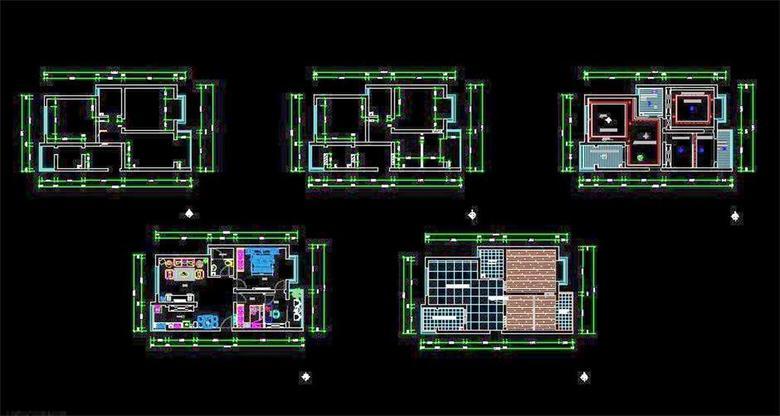 两室一厅CAD装修图平面设计图下载 图片0.78MB 工装施工CAD图纸大全 工装施工CAD图纸
