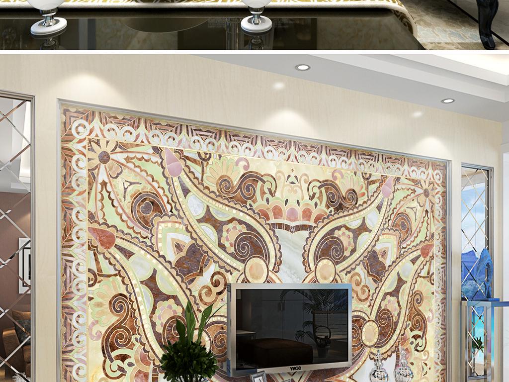 背景墙|装饰画 电视背景墙 欧式电视背景墙 > 极品霸气瓷砖拼花石材