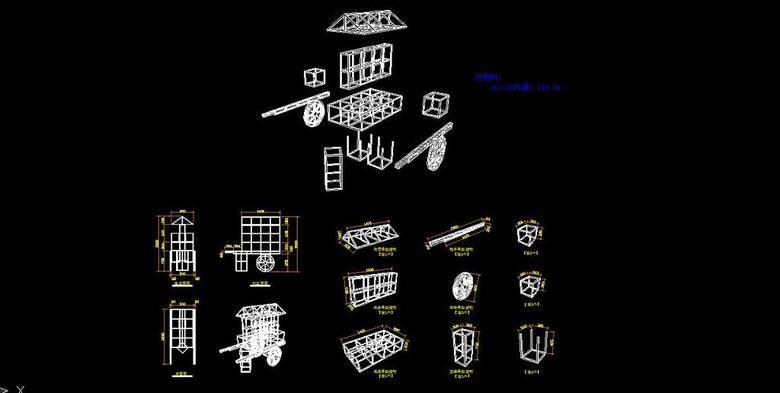 铁多层CAD图纸cad图中计算段线长度花车图片