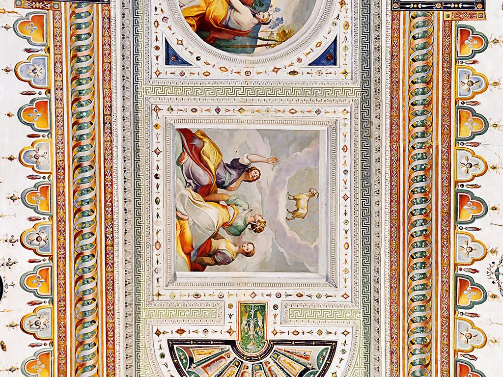 背景墙|装饰画 吊顶|天顶壁画 欧式吊顶 > 波西米亚风格人物手绘天顶