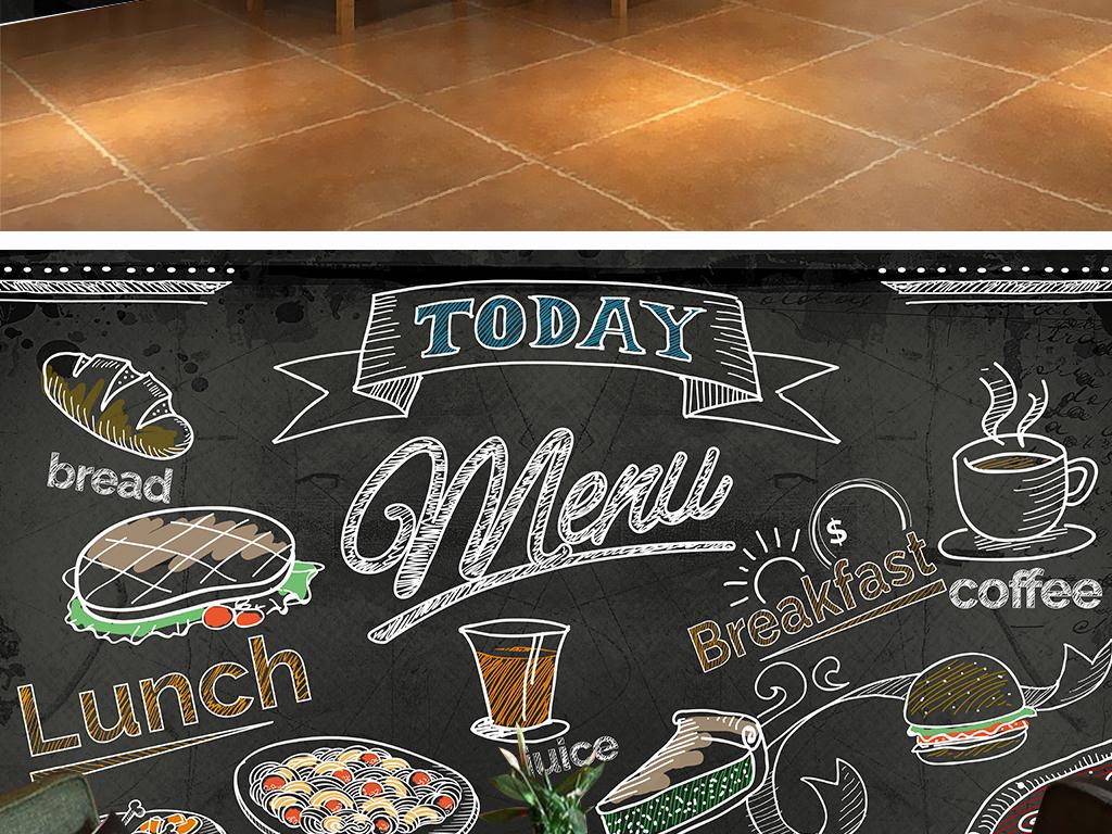 背景墙|装饰画 工装背景墙 酒店|餐饮业装饰背景墙 > 个性西餐厅黑板