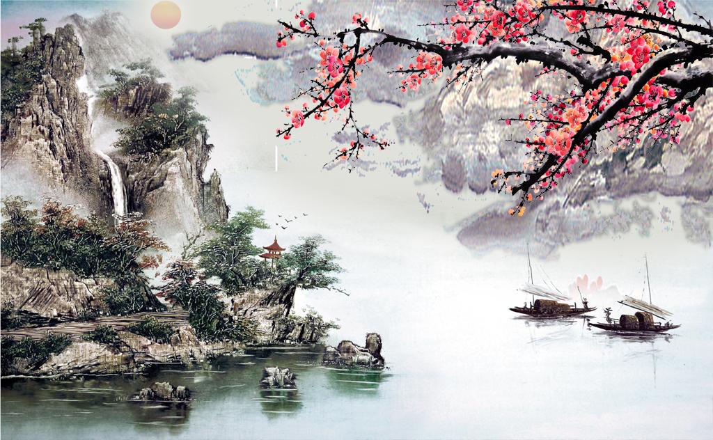 版权图片山水风景画