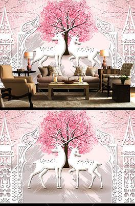 PSD卡通驯鹿 PSD格式卡通驯鹿素材图片 PSD卡通驯鹿设计模板 我图网