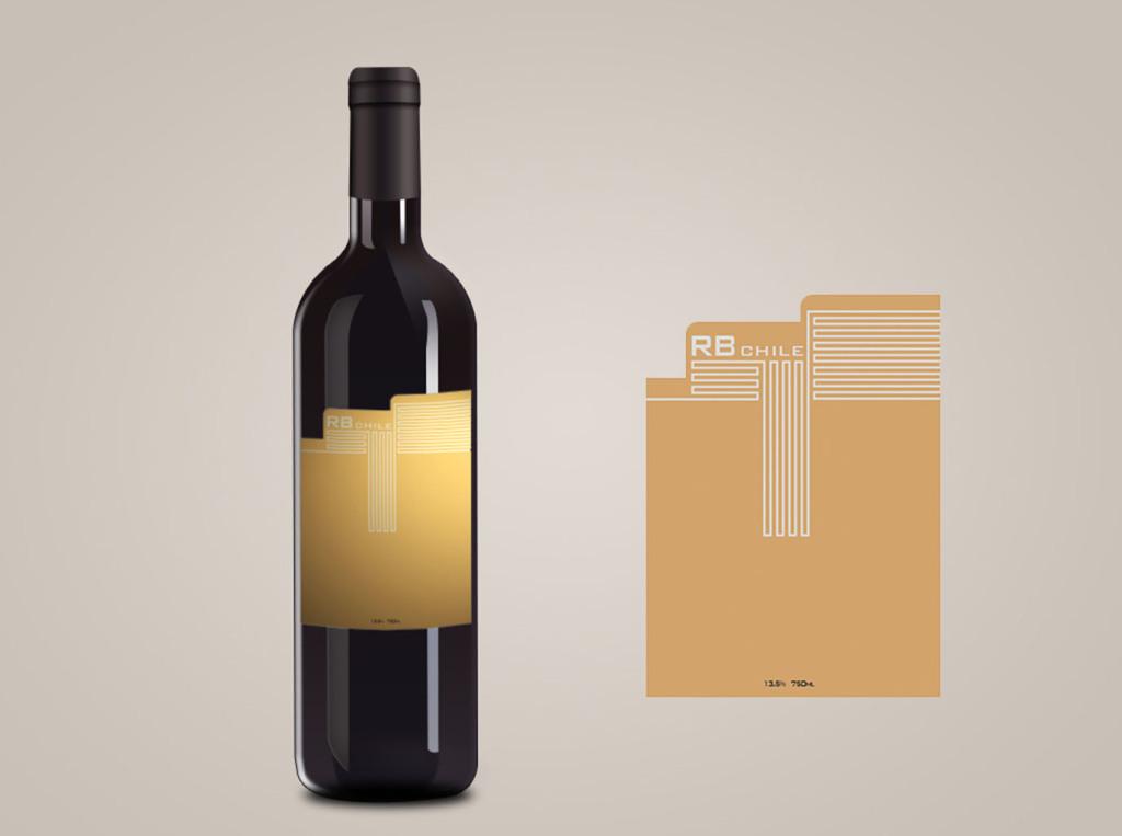 红酒酒标包装设计及展开印刷图