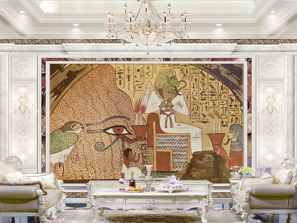 埃及法老壁画图片