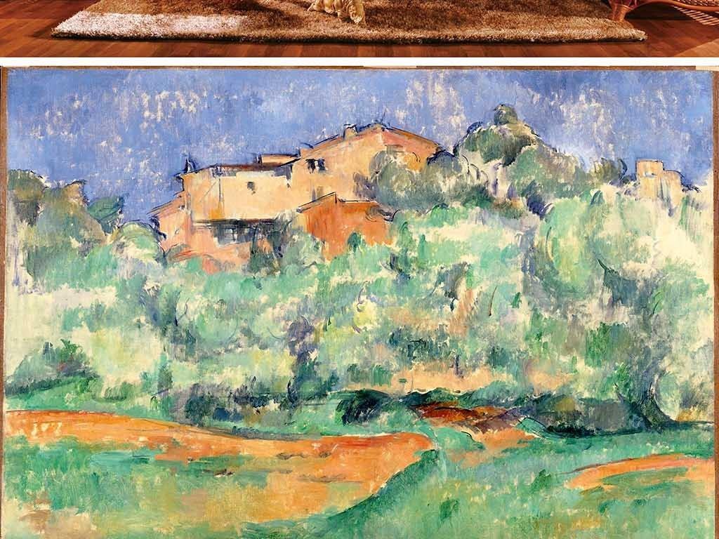抽象艺术房屋油漆背景