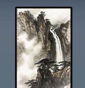 国画松树仙鹤图高清图片设计素材 模板下载 2.09MB 其他大全图片