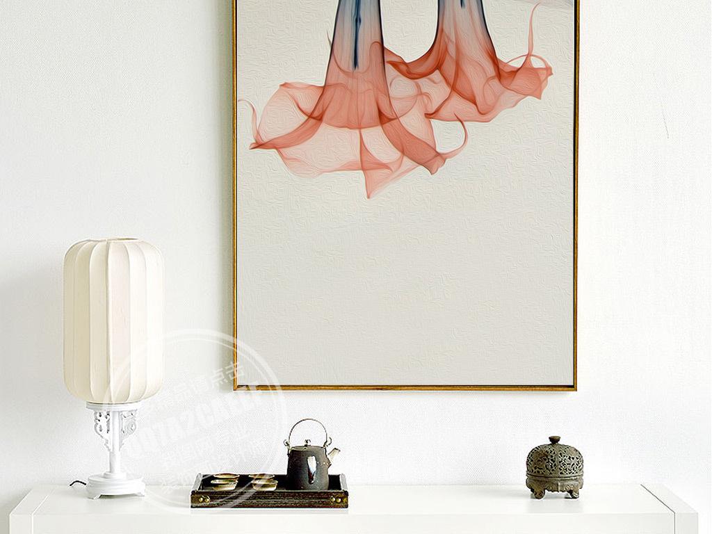 装饰画 北欧装饰画 植物花卉装饰画 > 唯美手绘透明马蹄莲三联无框画
