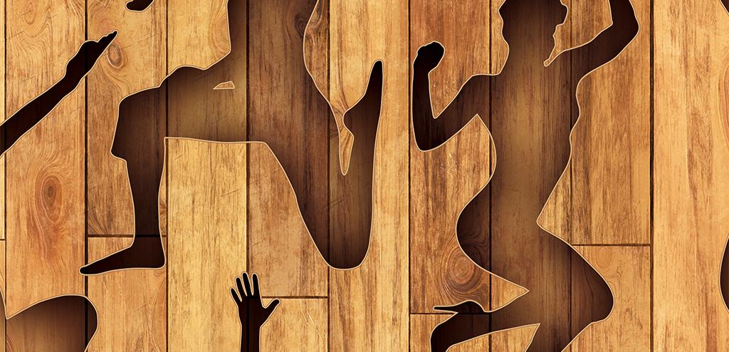 背景墙|装饰画 工装背景墙 形象墙 > 健身运动瑜伽休闲会所木板木纹工