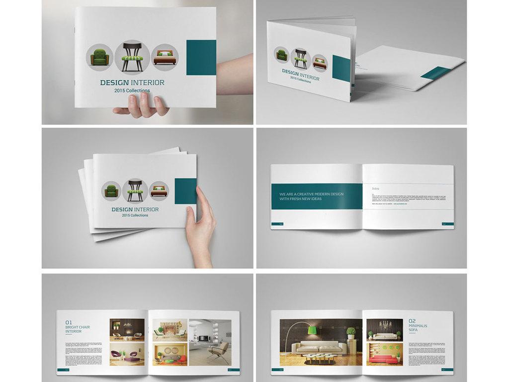 6个企业产品展示手册排版设计