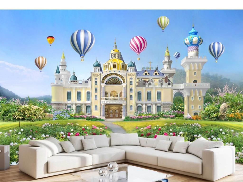 背景墙|装饰画 电视背景墙 3d电视背景墙 > 美丽女孩子小公主梦幻城堡