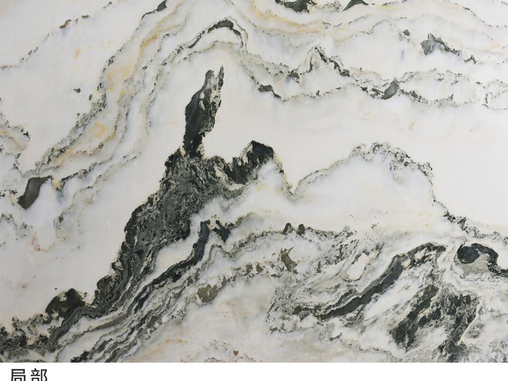 水月洞天山水大理石纹石材中式背景墙