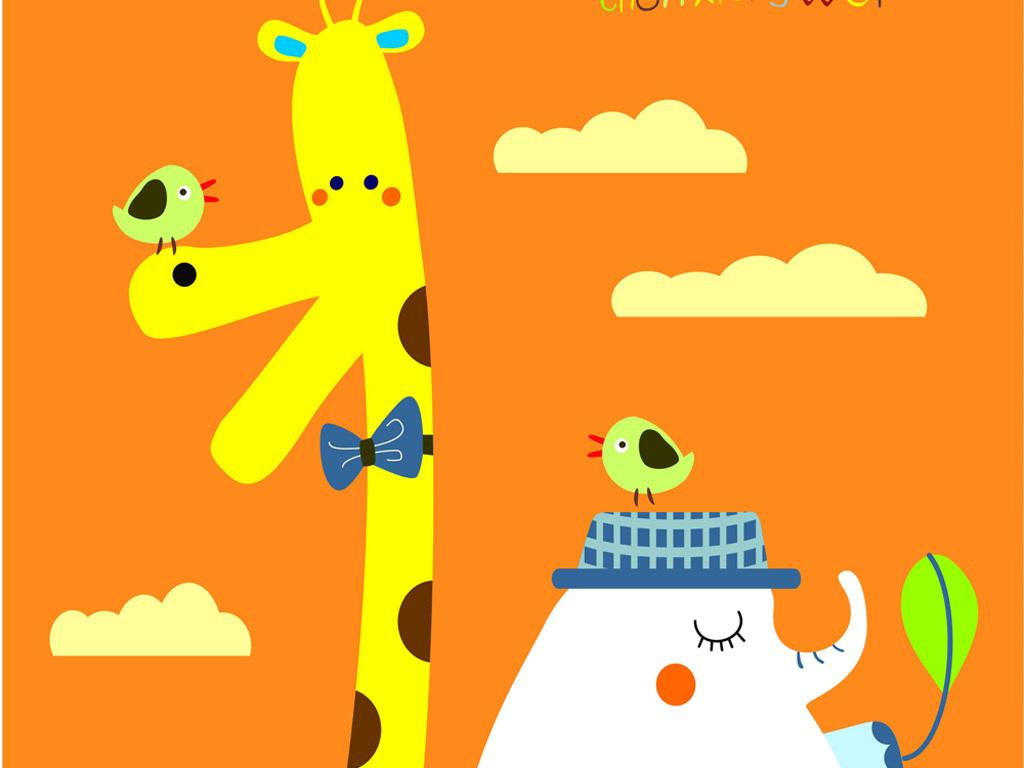 平面|广告设计 其他 插画|元素|卡通 > 动物卡通图案