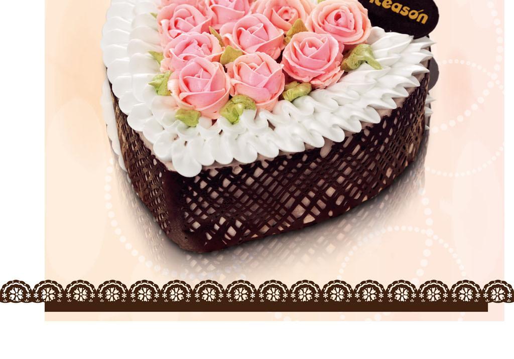 生日蛋糕宣传单蛋糕店广告单蛋糕促销海报七夕情侣蛋糕促销广告中秋节