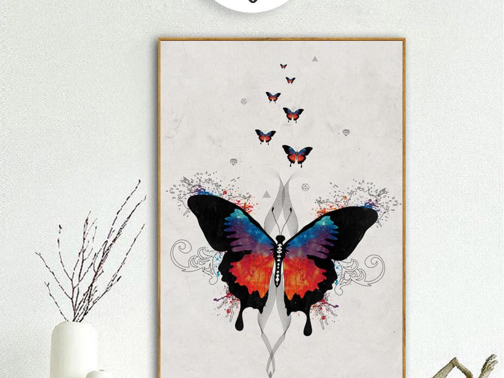 创意手绘蝴蝶无框画(图片编号:15279058)_动物图案无