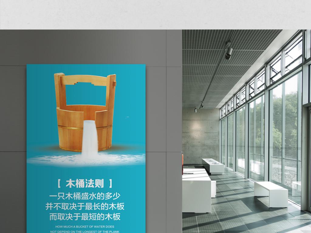企业文化展板木桶效应木桶法则