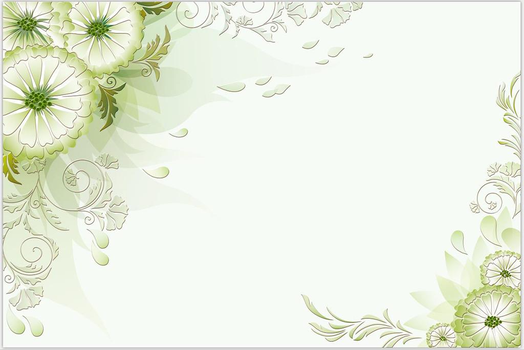 生如夏花浅绿色花清新花朵电视沙发现代背景