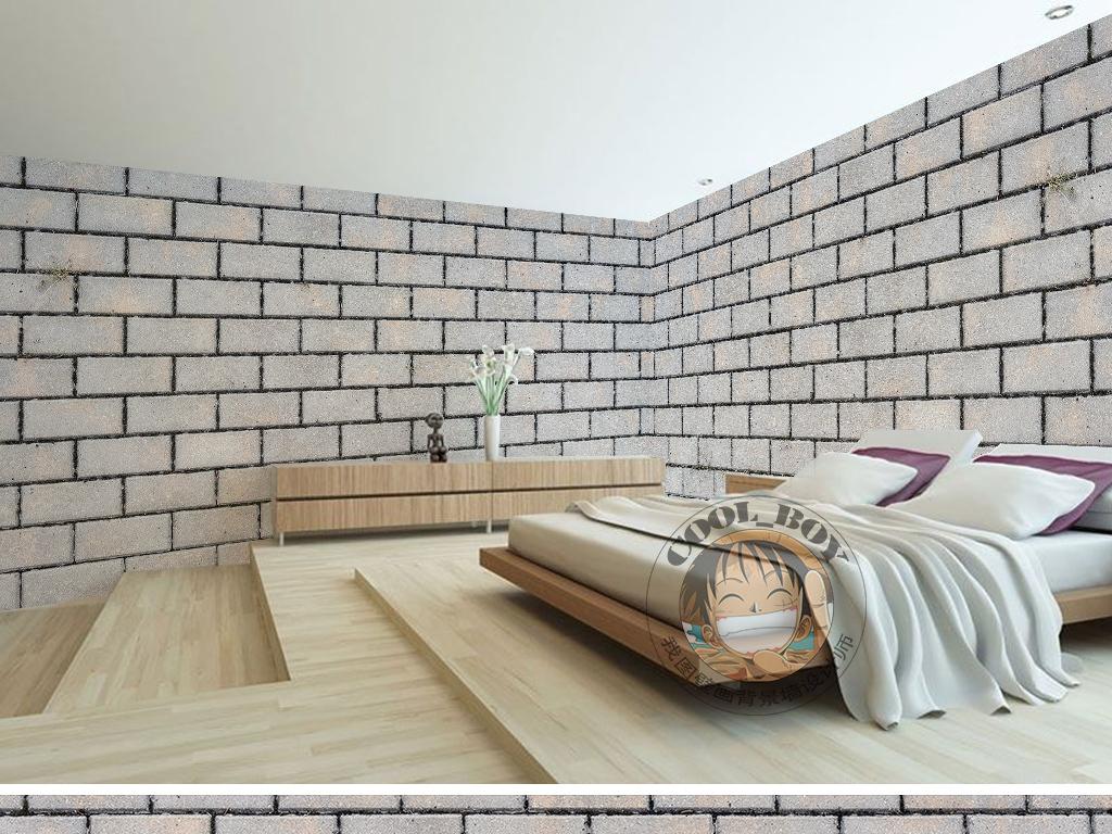简约做旧砖块堆砌墙壁立体时尚墙纸壁画图片设计素材 高清模板下载 40.72MB 现代简约墙纸大全