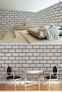 简约做旧砖块堆砌墙壁立体时尚墙纸壁画图片设计素材 高清模板下载
