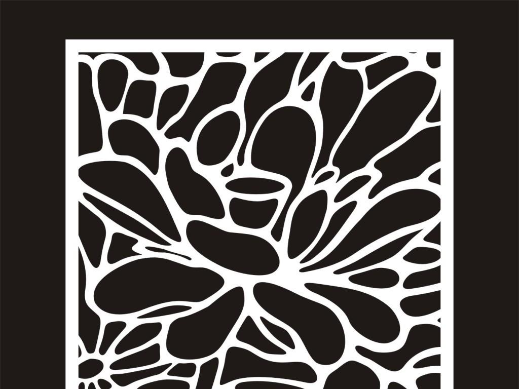 cdr)现代简约风格屏风现代花纹中式花纹风格屏风电脑雕刻图案中式花纹