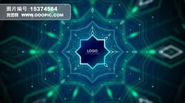 音乐可视化暖场Logo大屏