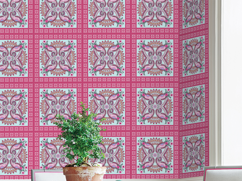 中式花纹纹理墙纸几何图案背景墙壁画