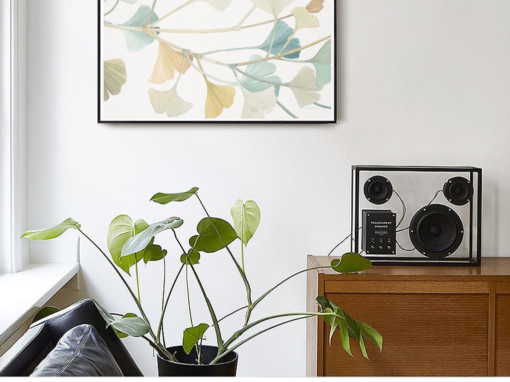现代小清新手绘金银花花卉装饰画图片设计素材 高清模板下载 19.30MB 植物花卉装饰画大全