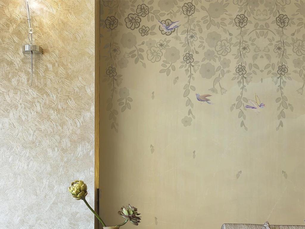 复古花鸟墙纸壁纸壁画背景墙
