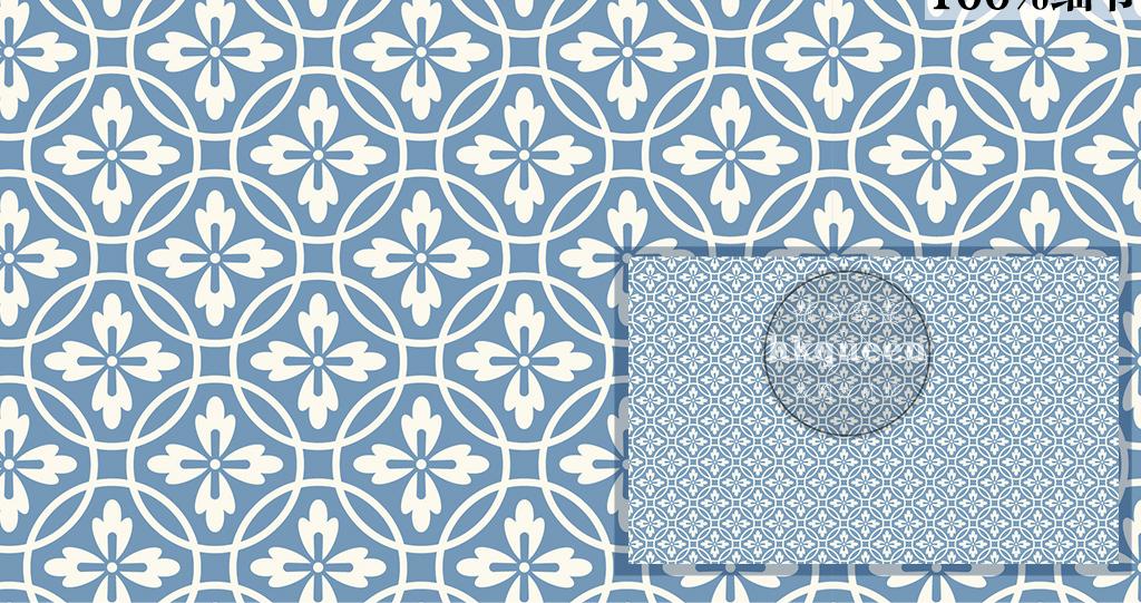 09 我图网提供精品流行蓝色简单花纹图案小碎花几何图形美式墙纸素材