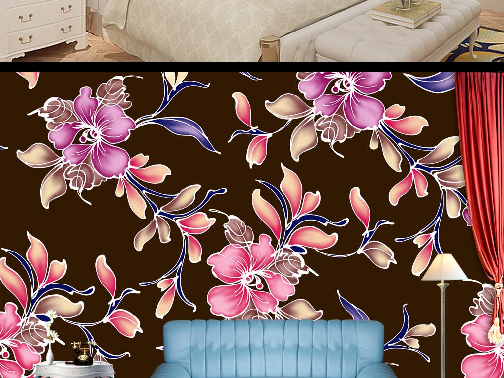 背景墙|装饰画 墙纸 现代简约墙纸 > 欧式漂亮花纹墙纸壁纸