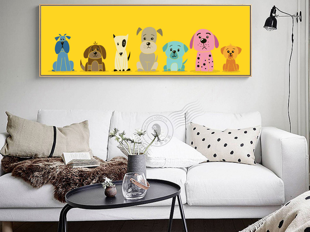 背景墙|装饰画 无框画 动物图案无框画 > 北欧怀旧动物沙发卧室床头