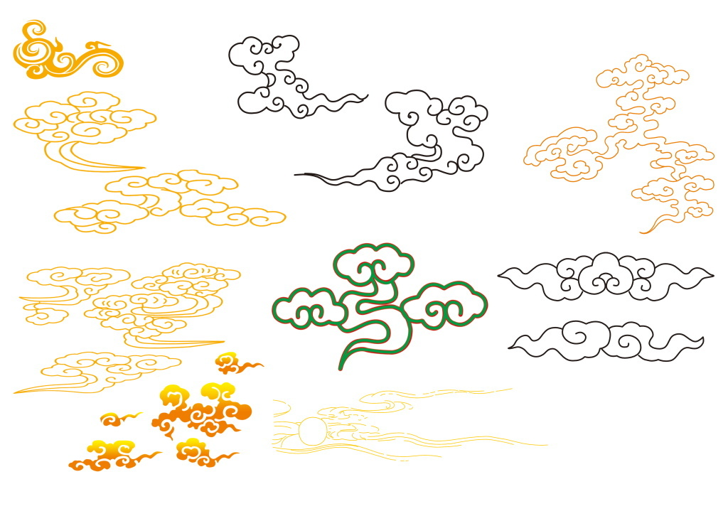 古典文化祥云图案设计吉祥如意创意广告图图片