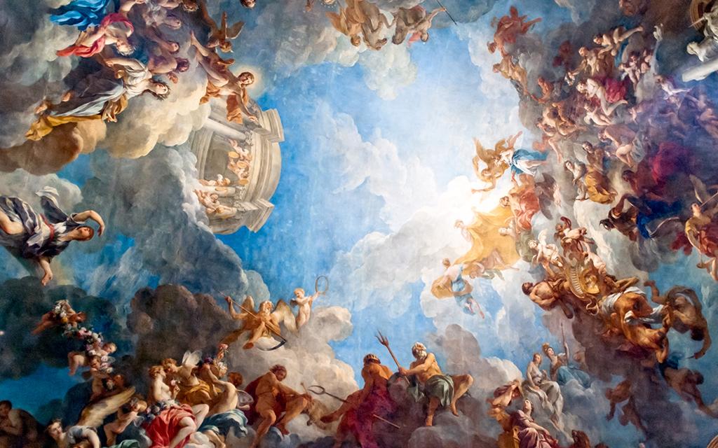 高清欧式复古人物油画壁画背景墙(图片编号:15515479)