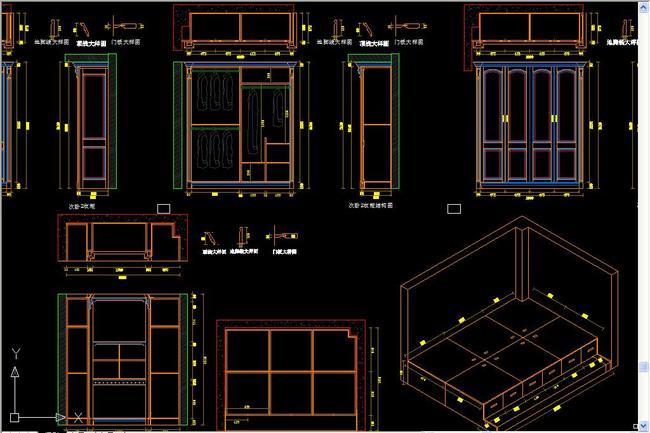 图纸图纸深化高清设计素材-原理dwg模板下载衣柜图片ad改大小怎么图图片