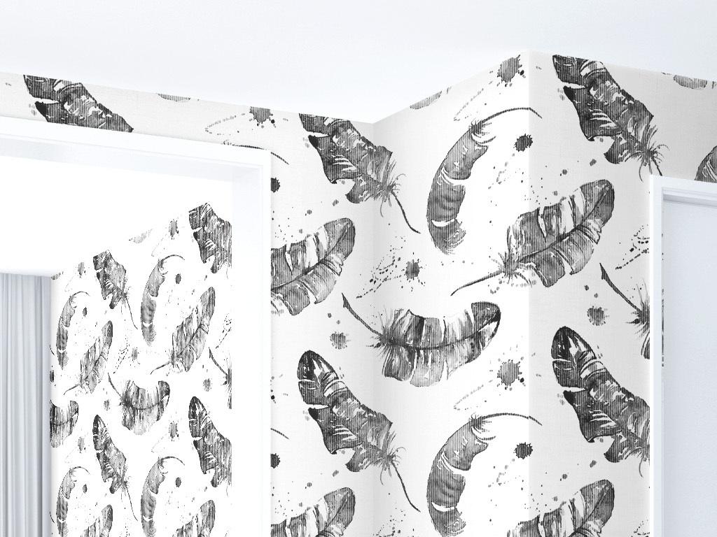 家纺欧式花纹墙纸孔雀羽毛羽毛背景羽毛素材白色羽毛羽毛飘落动态羽毛